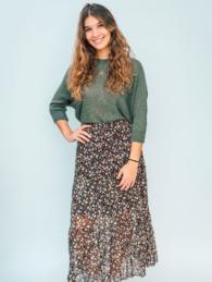 flower print skirt1