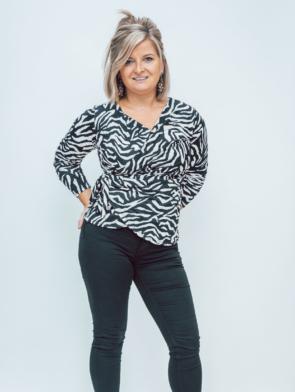 white zebra blouse 1